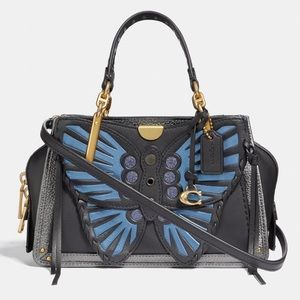 Coach Dreamer 21 With Whipstitch Butterfly NWT